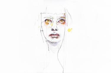 Golden eyes girl by agnes-cecile