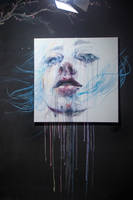 breathing - on blackboard by agnes-cecile