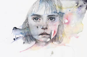 Little Girl Shadow by agnes-cecile