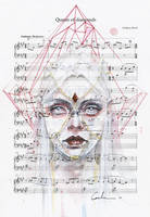 Queen of Diamonds on Sheet Music by agnes-cecile