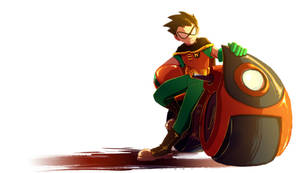 Robin (TeenTitans) by CharlotteSketches