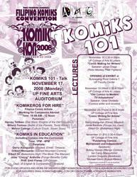 KOMIKS 101 poster by komikon