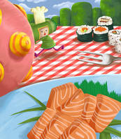 katamari sushi by kitanai-neko