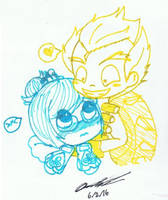 Chibi Junkrat and Mei by Mischief-Soul-Lover