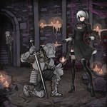 Nier automata X Dark souls by Ermac23SS