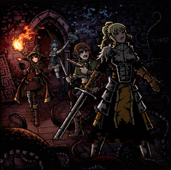 KonoSuba X Darkest Dungeon by Ermac23SS