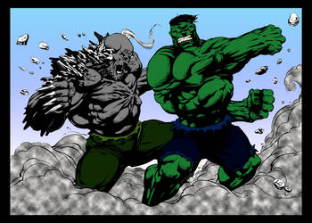 Hulk Vs Doomsday by kevarin