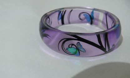 Iridescent butterfly bracelet by np4444