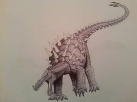 anguirus 2014 by spinosaurus1