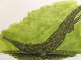Champsosaurus by spinosaurus1
