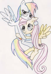 Fluttershy and Rainbow Dash by Dreamer1005