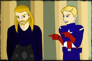 Thor And Loki As Cap by lilhawkeye