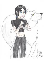 Alex and Wolf by lilhawkeye