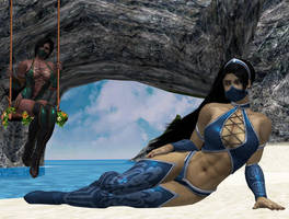 Kitana and Jade by virus2015x