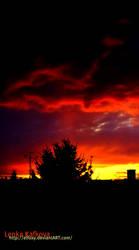 fiery sky by eLFoxy