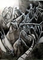 Zombie dragon by Mourkhayn