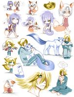 :: MyPaint Doodles 02 :: by Vienix