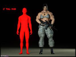 Amanda height comparison by Tigersan