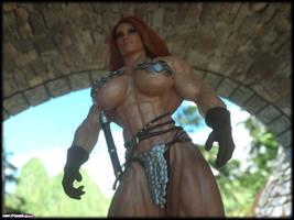 Red Sonja closeup by Tigersan