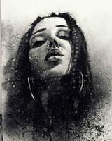 charcoal portrait  by nickbleb