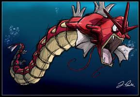 Red Gyarados by pokemon-master