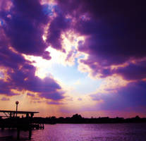 Lilac Skies Over Lake by Kate419882