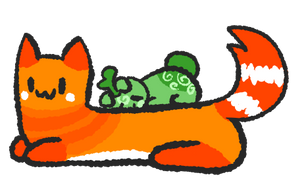 Sprout and Creamsicle by SpaceOreos