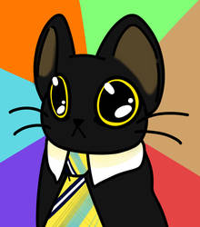 Business Cat by SpaceOreos