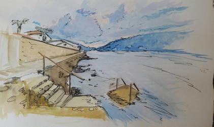 Montenegro aquarelle landscape by Nelsonito