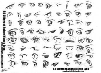 68 Different Anime Manga Eyes by GH07
