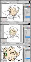 Tron Saber PS Color Process by GH07