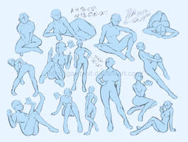 Female poses Reference 2 by GH07