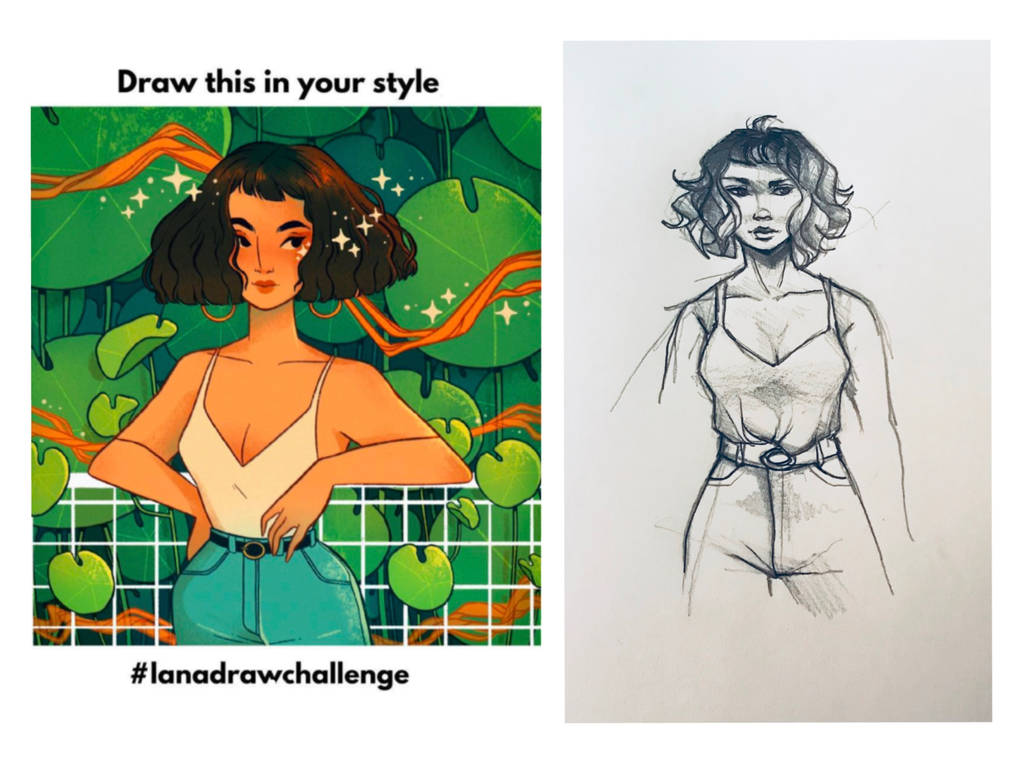 Draw this in your style - Lana Jay art by ArtRabbitIllustrates