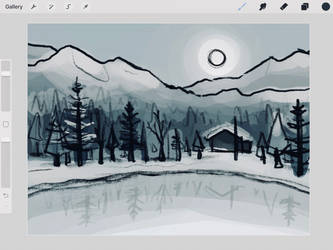 Winterscape - W.I.P. by ArtRabbitIllustrates