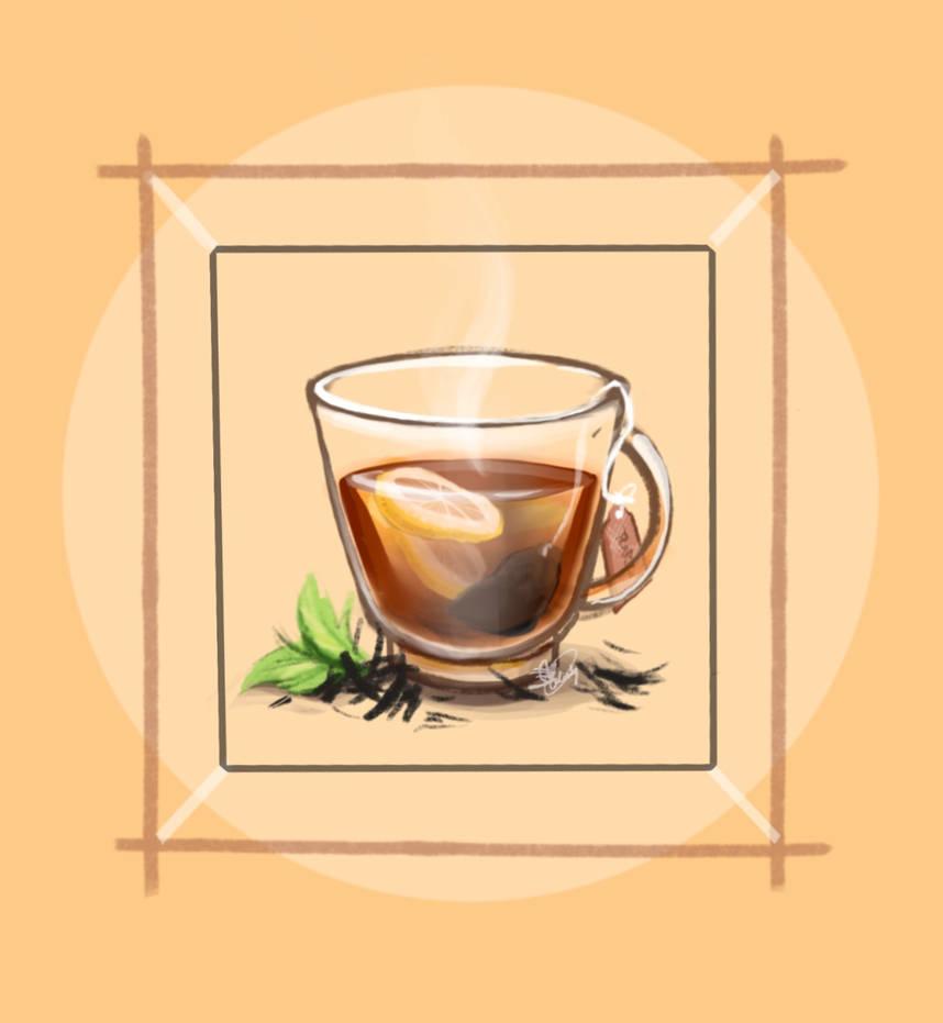 Black tea by ArtRabbitIllustrates