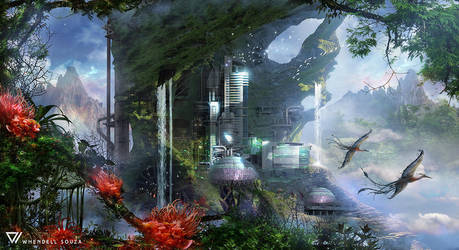 Mountain Base by Whendell