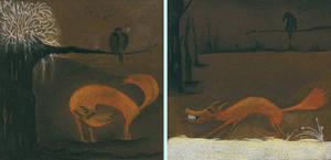 El cuervo y el zorro by unpuntito