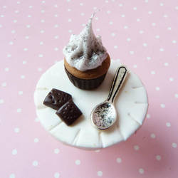 chocolate ring with cupcake by lemon-lovely