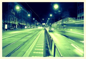Tram Stop by Xaviaro