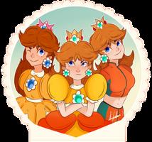 NINTENDO: Daisy por 3 by AnyColor