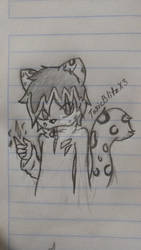 Lux the Snow Leopard! Nightly sketch by bestlim10