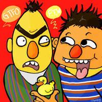 Bert n' Ernie by EvilCreampuff