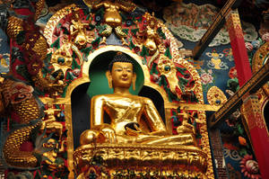 Golden Buddha by varunabhiram