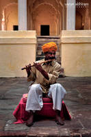 Flute Player by varunabhiram
