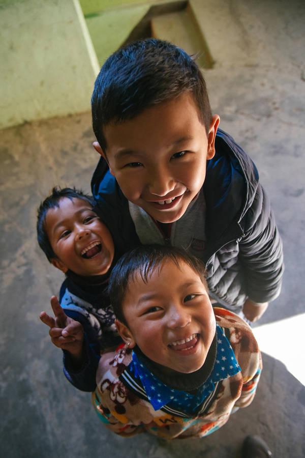 Kids at Lachung by varunabhiram