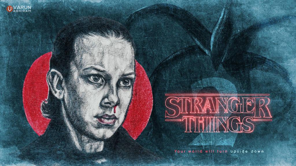 Stranger Things 2: Millie Bobby Brown as 'Eleven' by varunabhiram