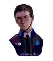 Connor android ( DBH) by Gekatinia