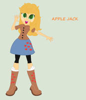 My Little Pony Equestria Girl Apple Jack Gen 1 by yaya54320