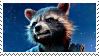 Rocket Racoon Stamp by DIIA-Starlight
