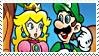 LuigiXPeach :Stamp03: by DIIA-Starlight